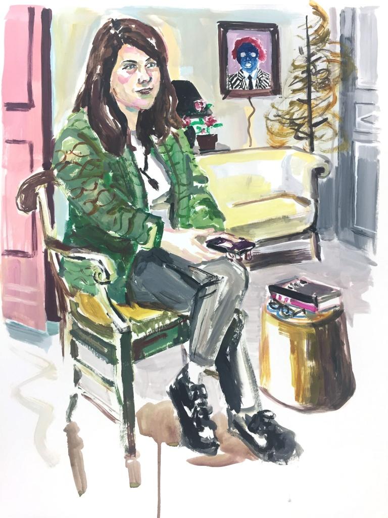 Catherine; acrylic on canvas, 18X24