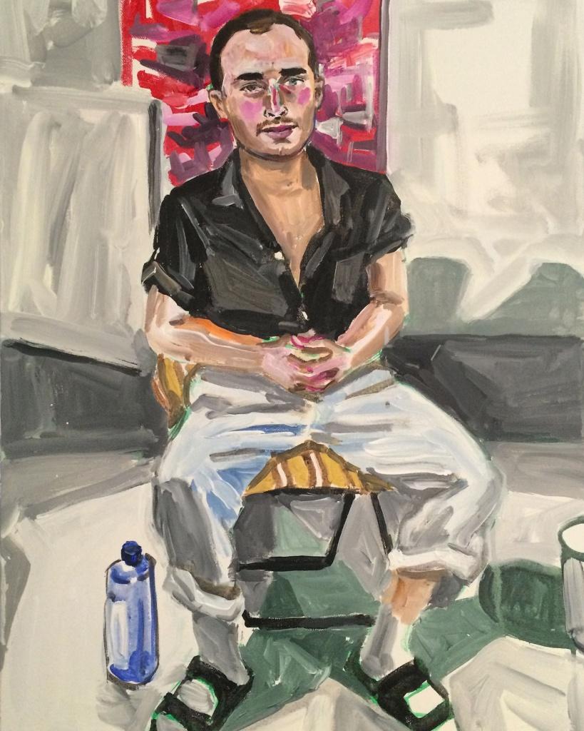 Clinton 5;acrylic on canvas 18X24, 2016
