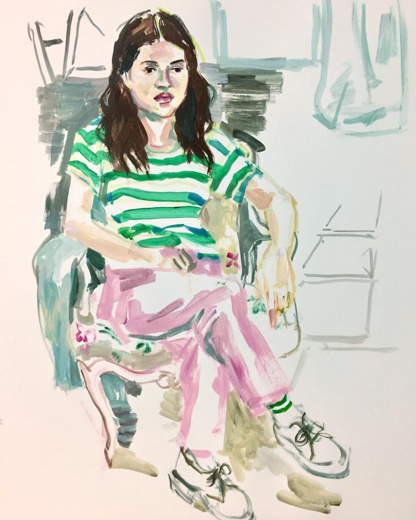Flora ; acrylic on canvas, 18X24