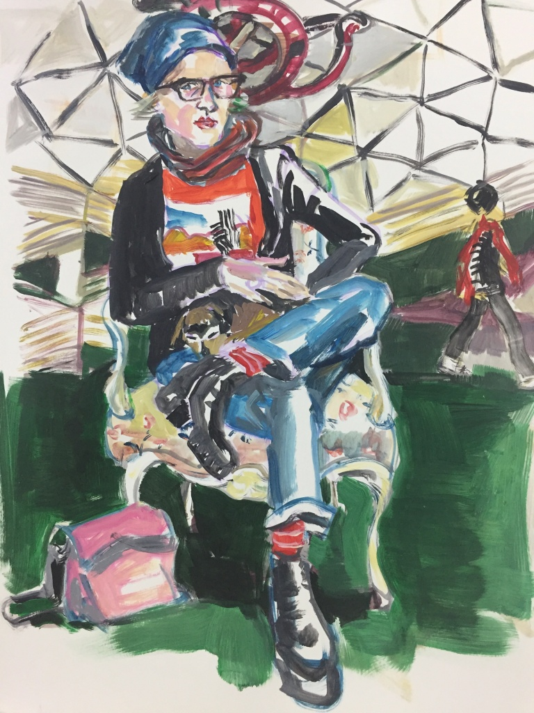 Kaye 1; acrylic on canvas, 18X24