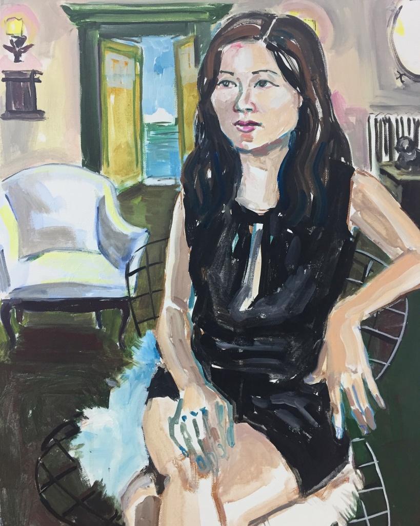 Soo Kim; acrylic on canvas 18X24, 2018