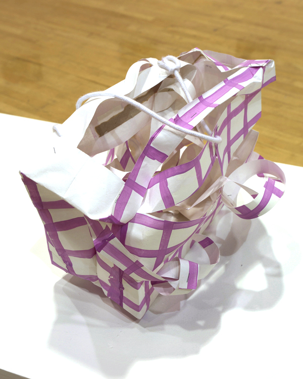Prada 1 Paperbag, resin, paint 16X6.5X12