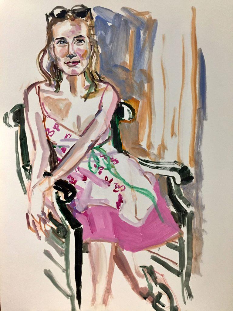 Elizabeth, 18X24, acrylic on canvas, 2018