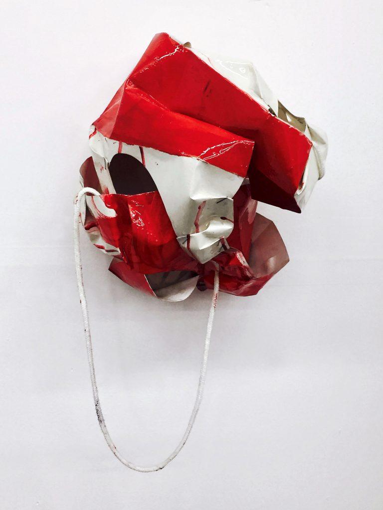 Mondadori 1, paper bag, paint, resin; 11X12.5X9.5; 2016