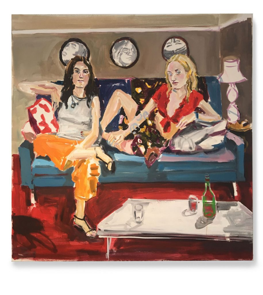 Gabi and Magdalena, acrylic on canvas, 30X30, 2019