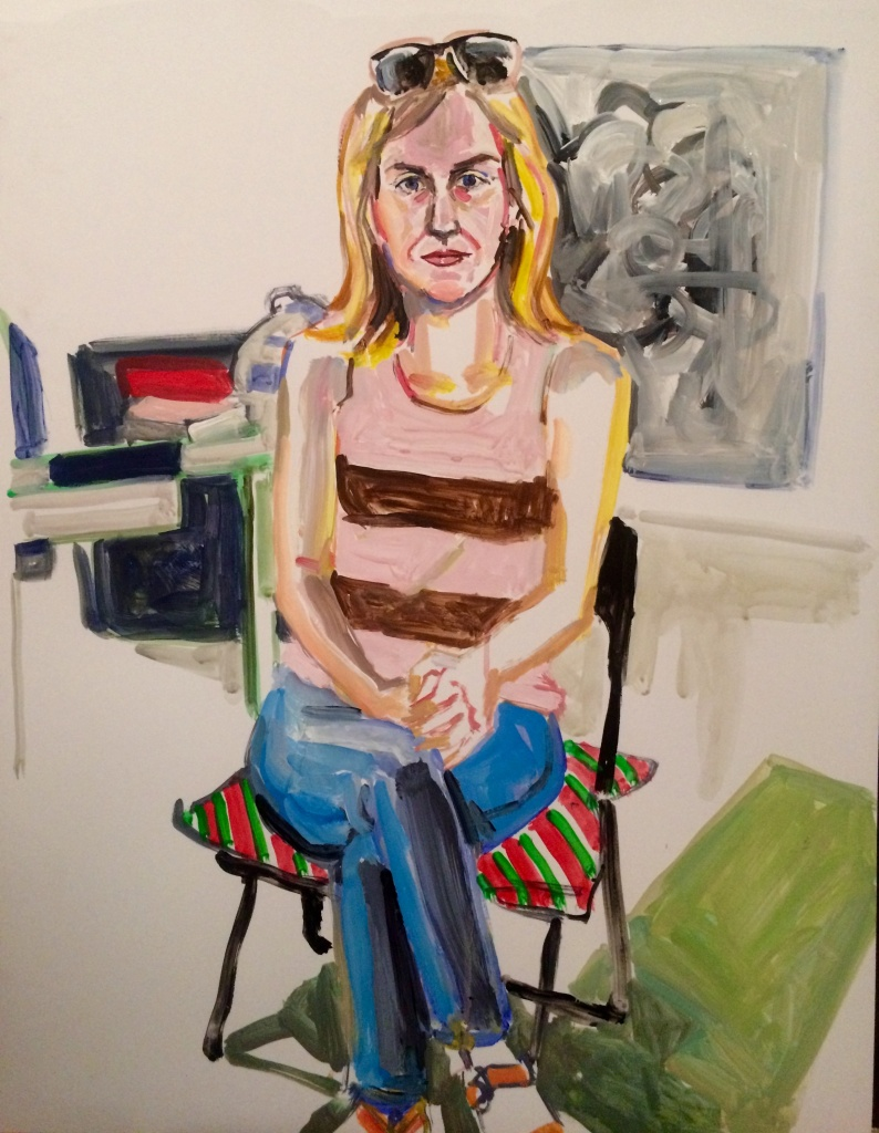 Amy Green; acrylic on paper 19X24, 2015