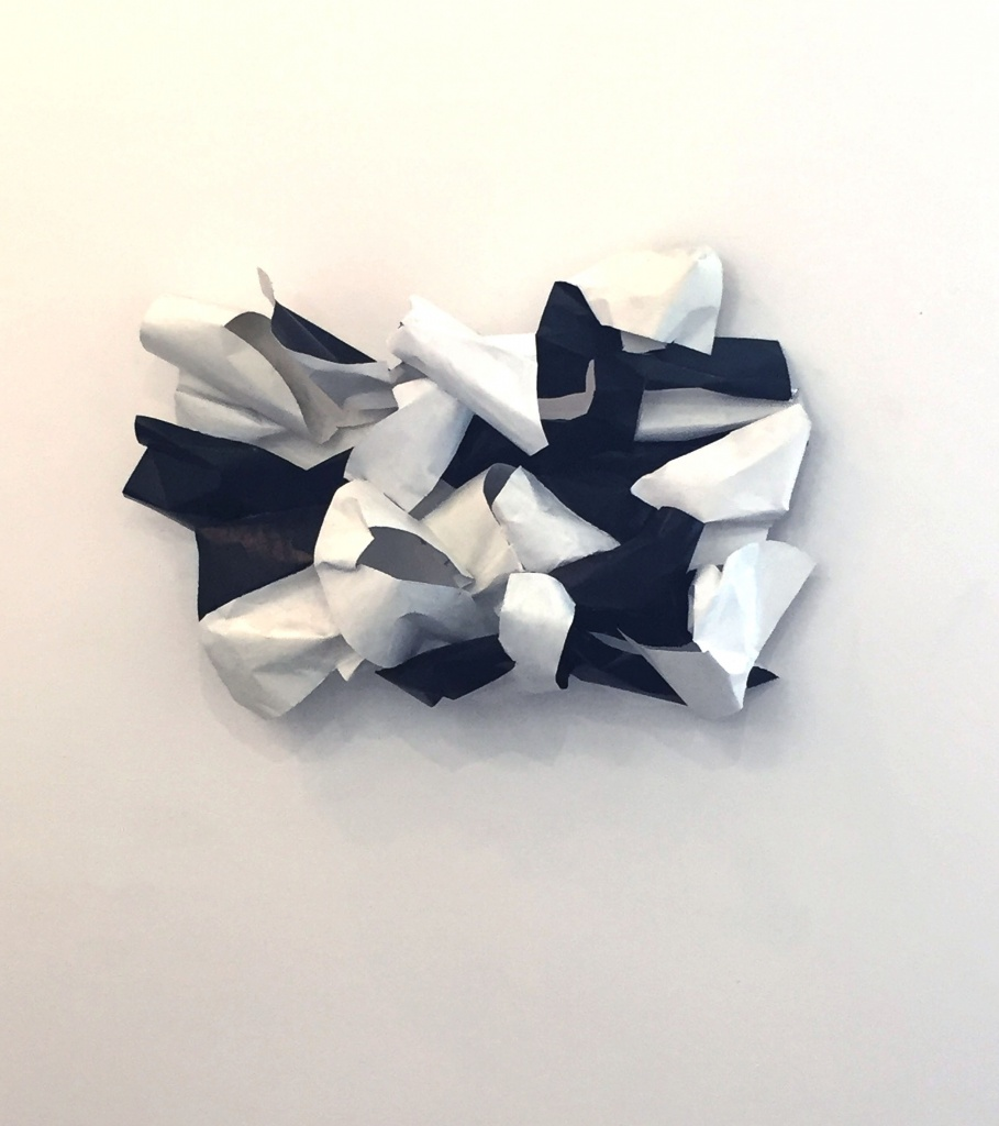 Black and White; aluminum, 28X34X12.5, 2017
