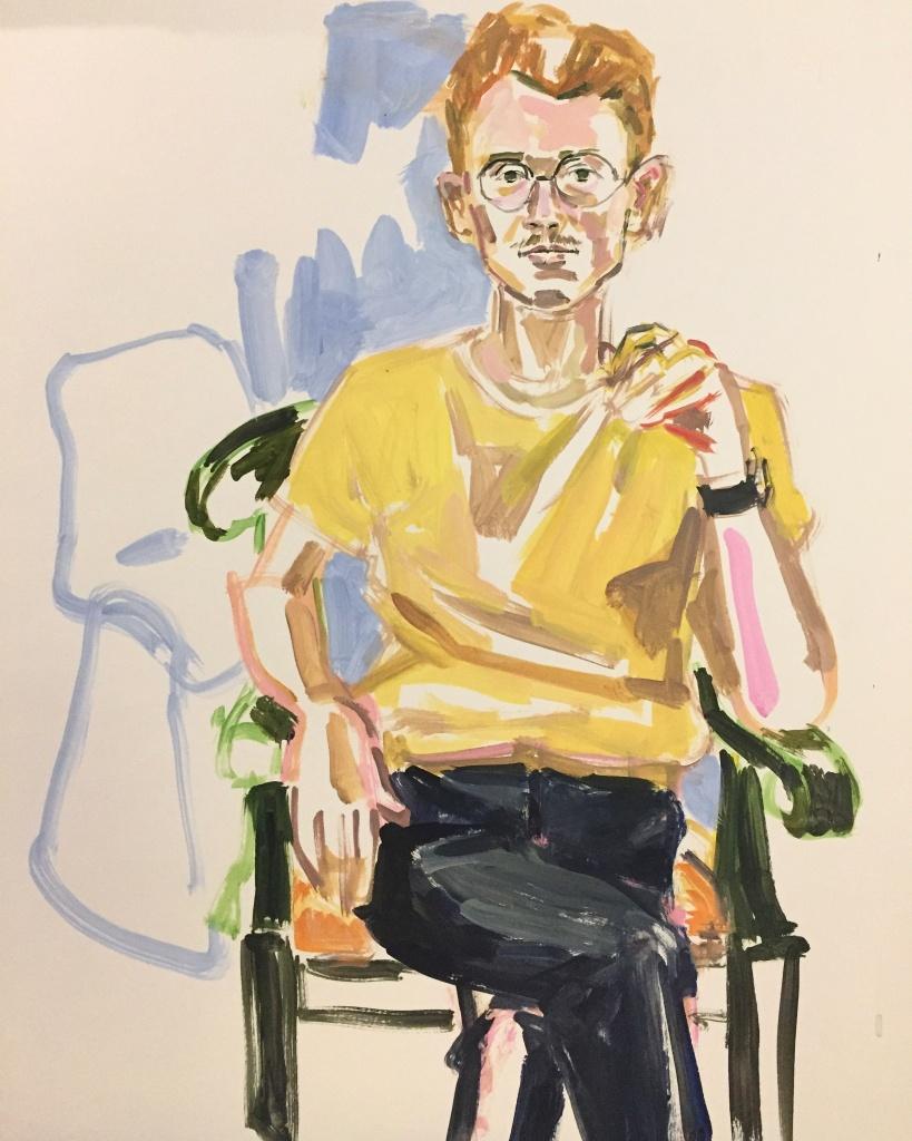 Danny B;; acrylic on paper 18X24, 2016