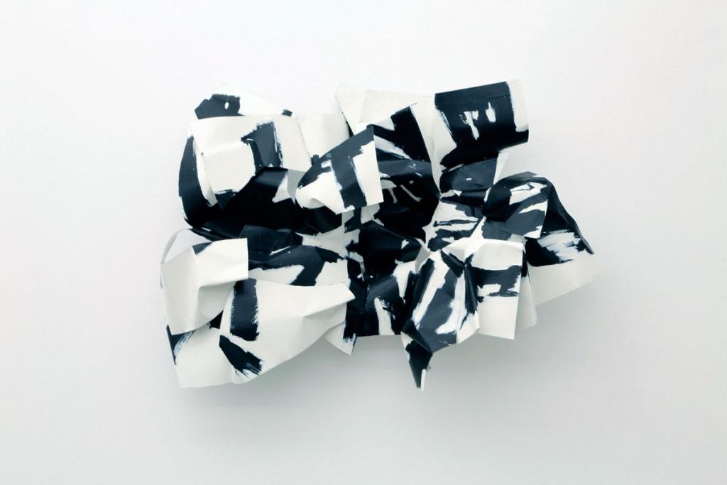 Deconstructing Chinese; aluminum, paint, 18X26X15, 2016