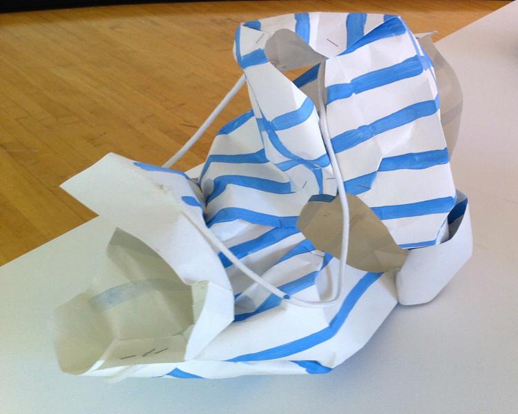 Prada 2 12.5X17X8 Paperbag, Resin, paint