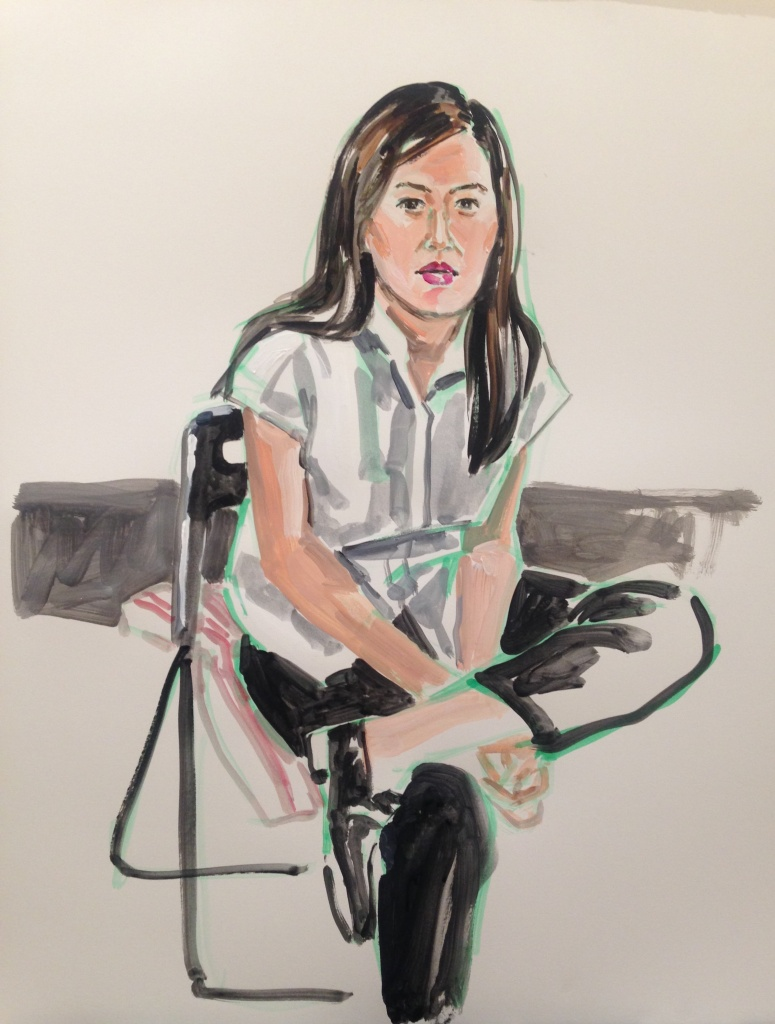 Susan; acrylic on paper 18X24, 2015