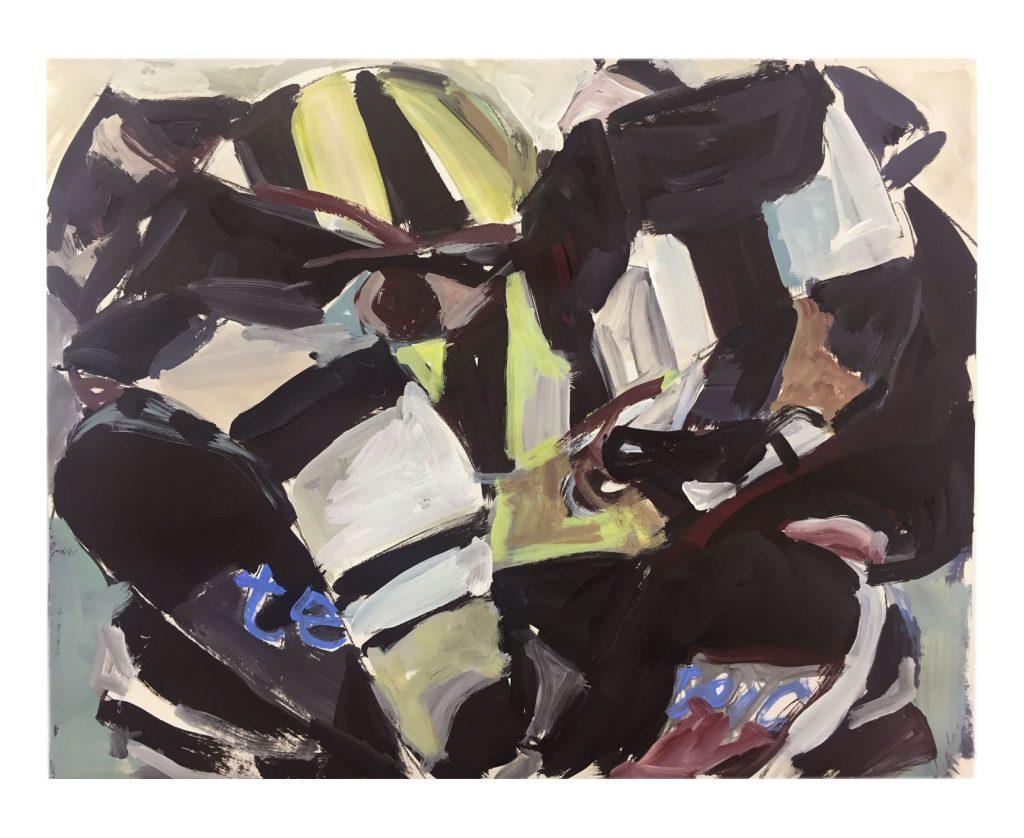 La Loge de Renoir, 16X20, guache on paper, 2018