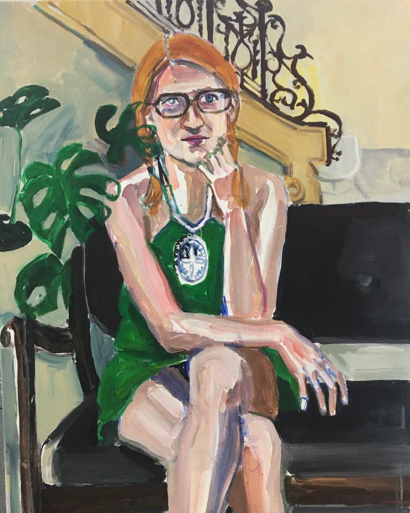 Jessika, acrylic on canvas, 22X28, 2019