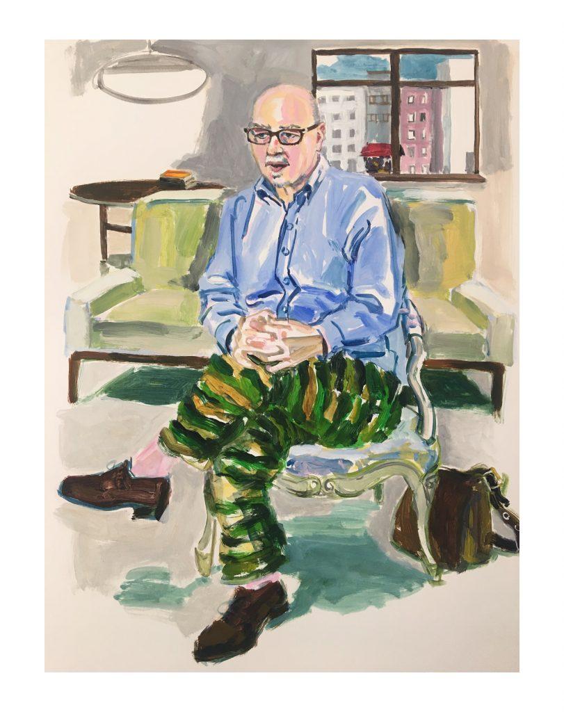 George acrylic on paper, 24X19 2020
