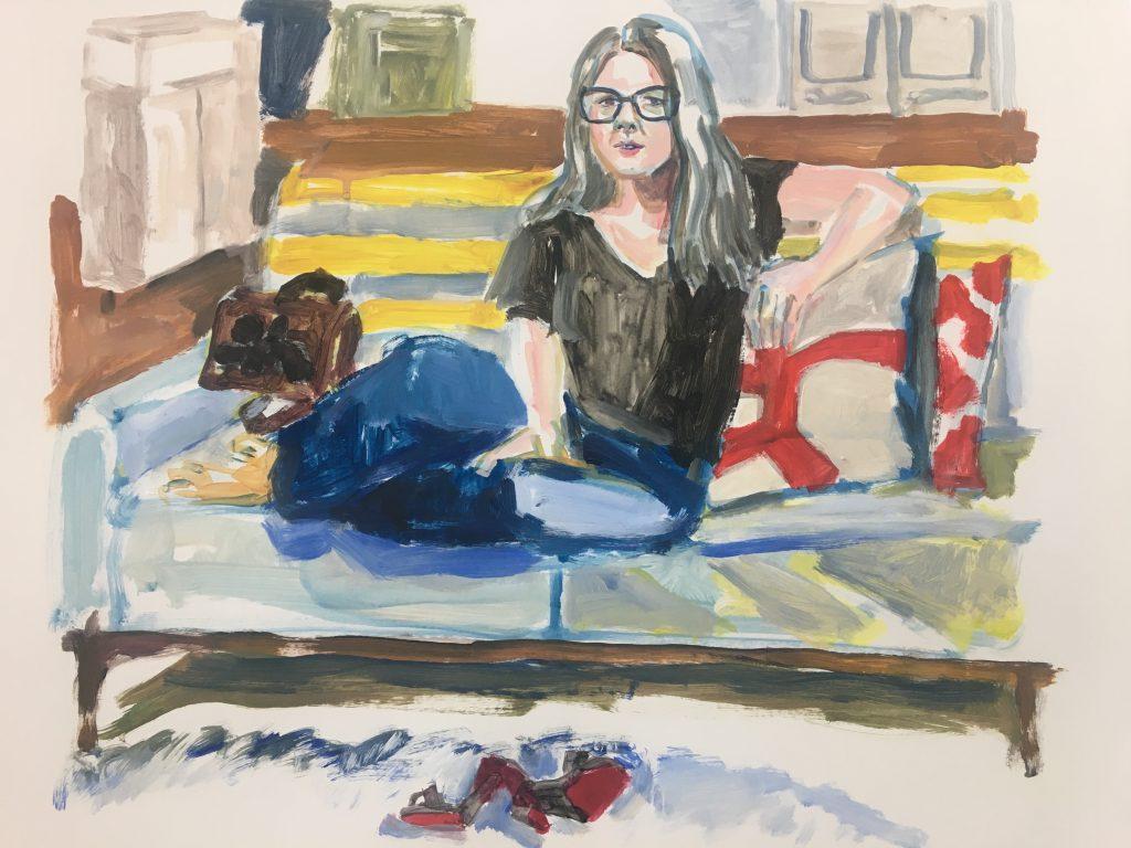 Shana Ny 2 acrylic on paper, 24X19, 2020