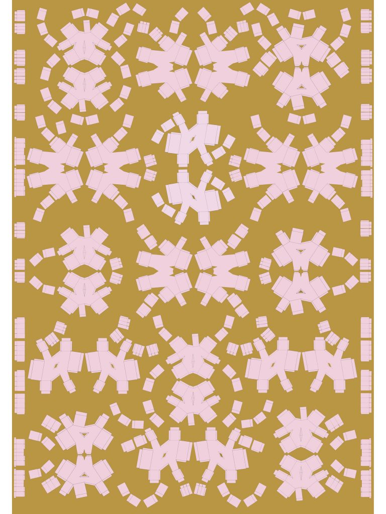Wall Paper -Shoe Box Pattern 1