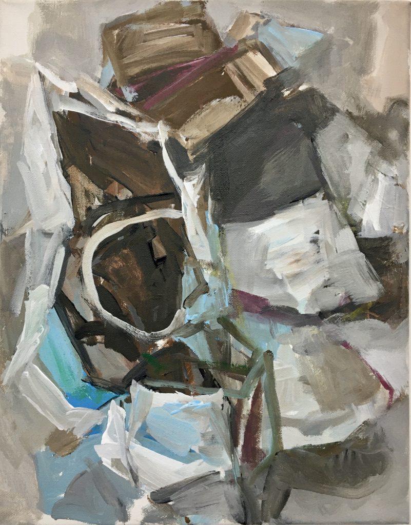 Disney Hall, 2021, acrylic on canvas, 11X14
