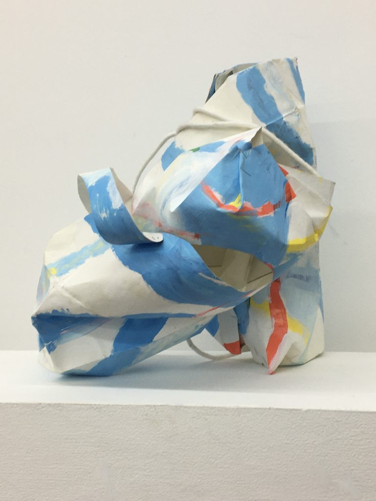 Arc de Ciel, 2021, acrylic and resin on paperbag