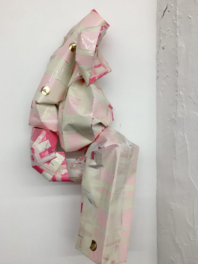 Culotte de Victoria, 2018, acrylic and resin on paperbag