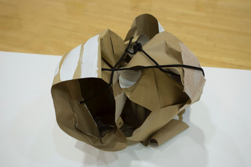 Mr. Perse, 2015, acrylic and resin on paperbag