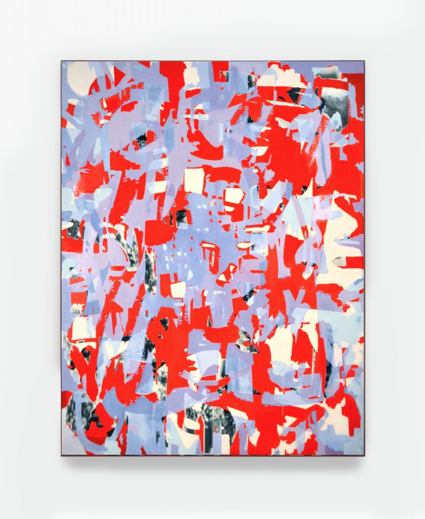 Here's A Red Patch, 36X46, acrylic and inkjet print on canvas, 2015