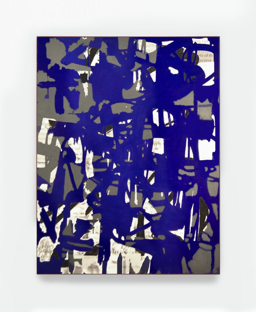 Look At That Marvellous BLue Forget About The Shape, 36X46, acrylic and inkjet print on canvas, 2015